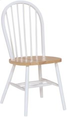 Windsor Chair White & Natural Product Image