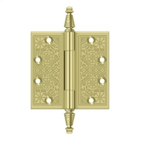 """4 1/2""""x 4 1/2"""" Square Hinges - Polished Brass"""
