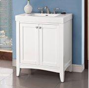 "Shaker Americana 30x18"" Vanity - Polar White Product Image"