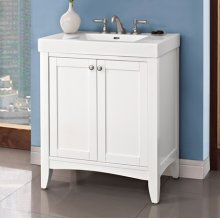 """Shaker Americana 30x18"""" Vanity - Polar White"""