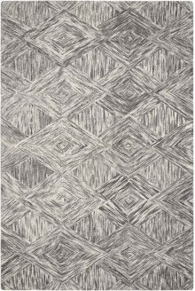 Interlock Itl01 Charcoal Rectangle Rug 5' X 7'6''