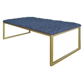 Avril KD Coffee Table, Denim Slate Blue