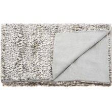 """Fur N9450 Ivory/grey 50"""" X 70"""" Throw Blankets"""