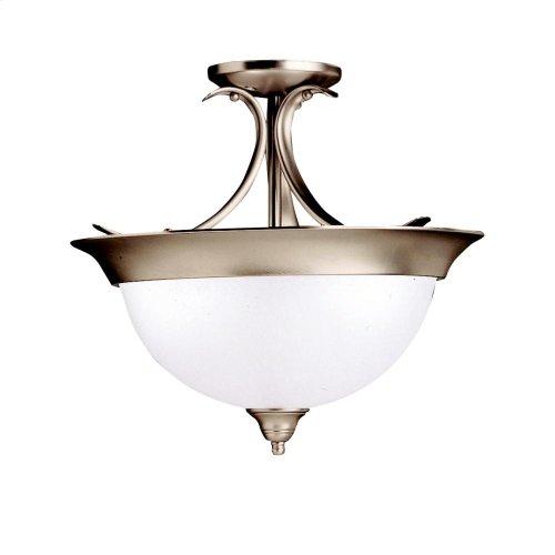 Dover Collection Dover 3 Bulb Semi Flush Ceiling Light NI