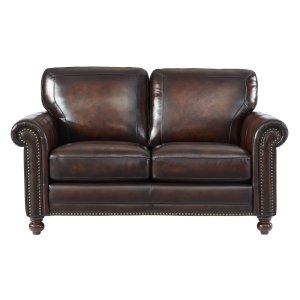 Leather Italia Usa 7160 Hampton Loveseat L501m Brown