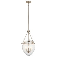 Belle Collection Belle 3 Light Foyer Pendant PN