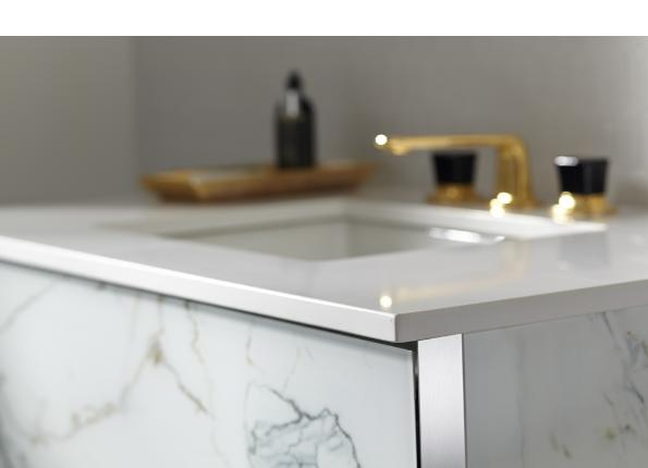 Additional Quartz White Stone Top with White Right Sink