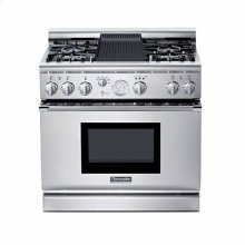 """36"""" PRO GRAND® DUAL-FUEL RANGE WITH 4 STAR® BURNERS (2 W/ EXTRALOW®) AND GAS GRILL"""