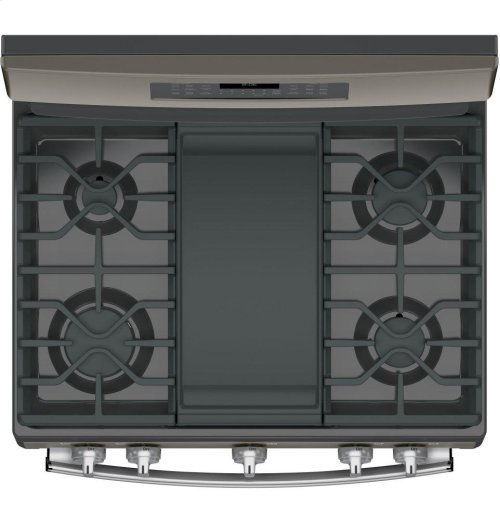 "GE® 30"" Free-Standing Gas Double Oven Convection Range"