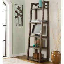 Perspectives - Leaning Bookcase - Brushed Acacia Finish