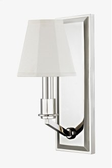 Erna Wall Mounted Single Arm Sconce with Fabric Shade STYLE: EZLT01