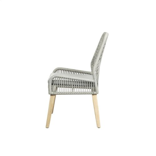 Grey and Natural Mango Side Chair
