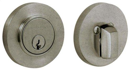 Distressed Antique Nickel Contemporary Deadbolt