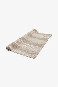 Tasha Bath Mat Linen with Cream Stripes STYLE: THMA02