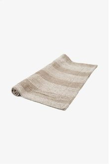 Tasha Bath Mat Linen with Cream Stripes STYLE: THMA02