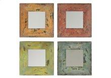 Colorful Square Mirrors (s/4)