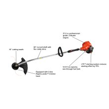 ECHO GT-225i Curved Shaft String Trimmer, weed eater, Lightweight, Easy Start