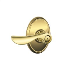 Champagne Lever with Wakefield trim Bed & Bath Lock - Bright Brass
