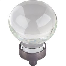 "1-3/8"" Diameter Glass Sphere Cabinet Knob."