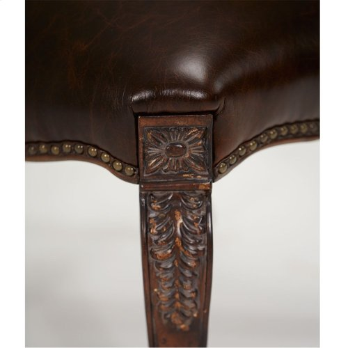 Leather Seat Side Chair