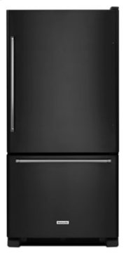 19 cu. ft. 30-Inch Width Full Depth Non Dispense Bottom Mount Refrigerator - Black Product Image