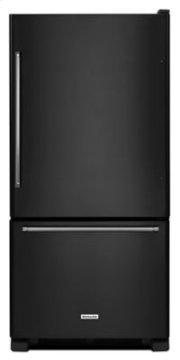 19 cu. ft. 30-Inch Width Full Depth Non Dispense Bottom Mount Refrigerator - Black Product Image