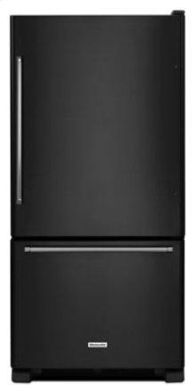 19 cu. ft. 30-Inch Width Full Depth Non Dispense Bottom Mount Refrigerator - Black