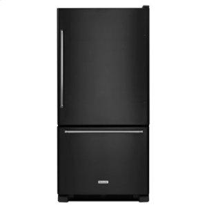 KITCHENAID19 cu. ft. 30-Inch Width Full Depth Non Dispense Bottom Mount Refrigerator - Black