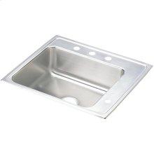 "Elkay Lustertone Classic Stainless Steel 25"" x 22"" x 4"", Single Bowl Drop-in Classroom ADA Sink"