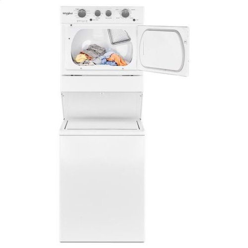 Whirlpool® 3.5 cu.ft Long Vent Electric Stacked Laundry Center 9 Wash cycles and AutoDry™ - White