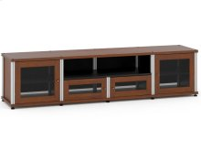 Synergy Solution 245, Quad-Width AV Cabinet, Cherry with Aluminum Posts