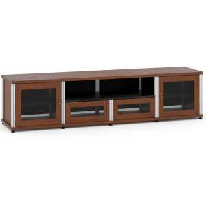 Salamander DesignsSynergy Solution 245, Quad-Width AV Cabinet, Cherry with Aluminum Posts