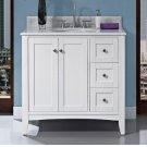 "Shaker Americana 36"" Vanity Drawer - right - Polar White Product Image"