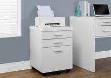 FILING CABINET - 3 DRAWER / WHITE ON CASTORS