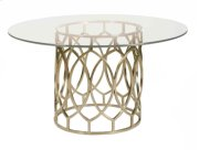Salon Dining Table with Glass Top Product Image