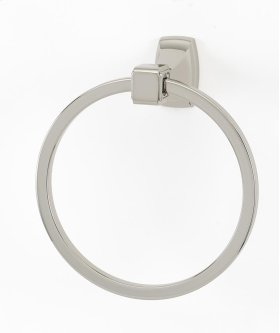 Cube Towel Ring A6540 - Satin Nickel
