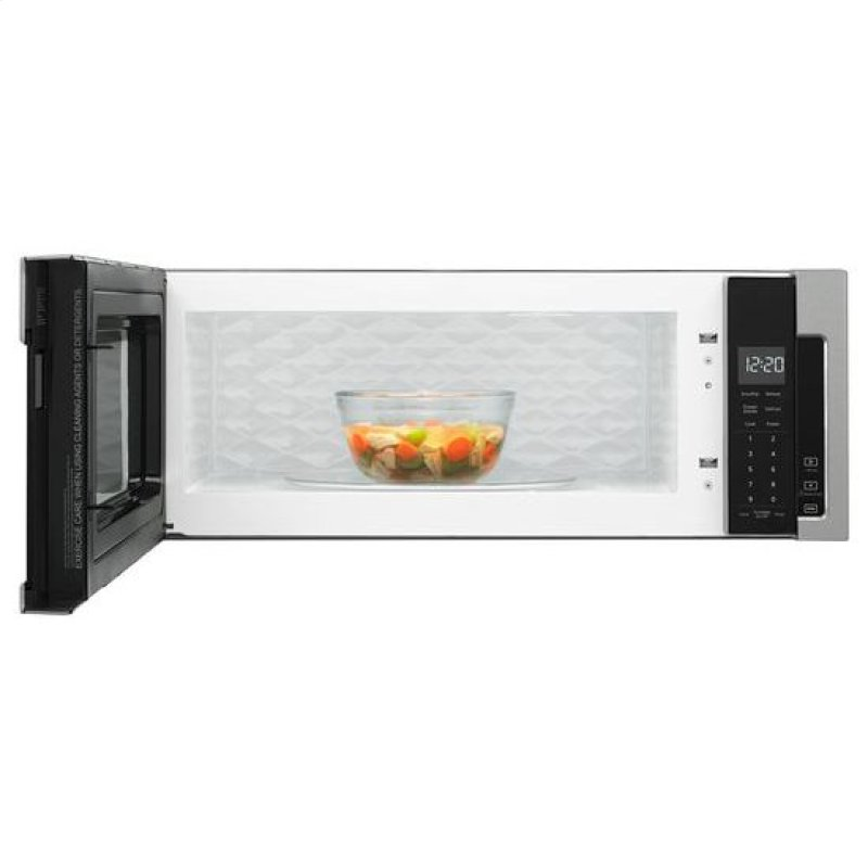 Whirlpool 1 Cu Ft Low Profile Microwave Hood Black On