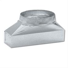 "3-1/4"" x 14"" to 7"" Round Transition for Range Hoods"