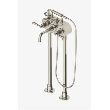 Regulator Exposed Floor Mounted Tub Filler with Handshower and Metal Lever Handles STYLE: RGXT71