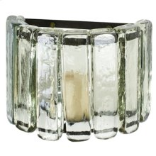 Blown Glass Clear Wall Sconce