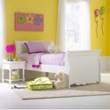Lauren Twin Sleigh Bed Set