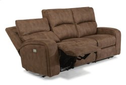 Rhapsody Fabric Power Reclining Sofa with Power Headrests Product Image