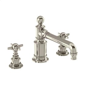 Arcade Crosshead Widespread Lavatory Faucet - Polished Nickel