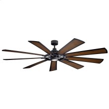 "Gentry XL LED 85"" Fan Distressed Black"