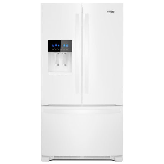 Whirlpool R 36 Inch Wide French Door Refrigerator In Fingerprint Resistant Stainless Steel 25 Cu Ft White