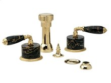 VALENCIA Four Hole Bidet Set K4338C - Polished Brass