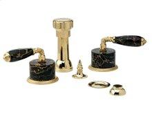 VALENCIA Four Hole Bidet Set K4338C - Polished Brass