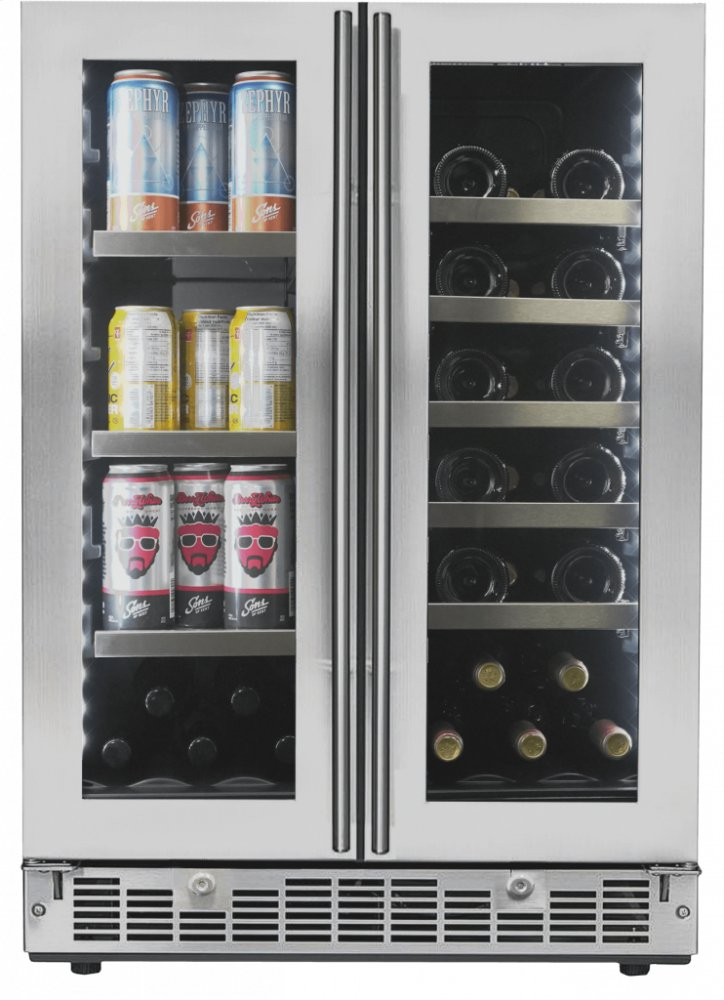 "SilhouetteLorraine 24"" French Door Beverage Center"