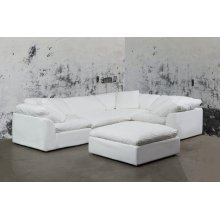 Sunset Trading Cloud Puff Slipcovered 5 Piece Modular Sectional Sofa - 391081