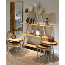 Etagere Shelves - Brushed Steel Finish